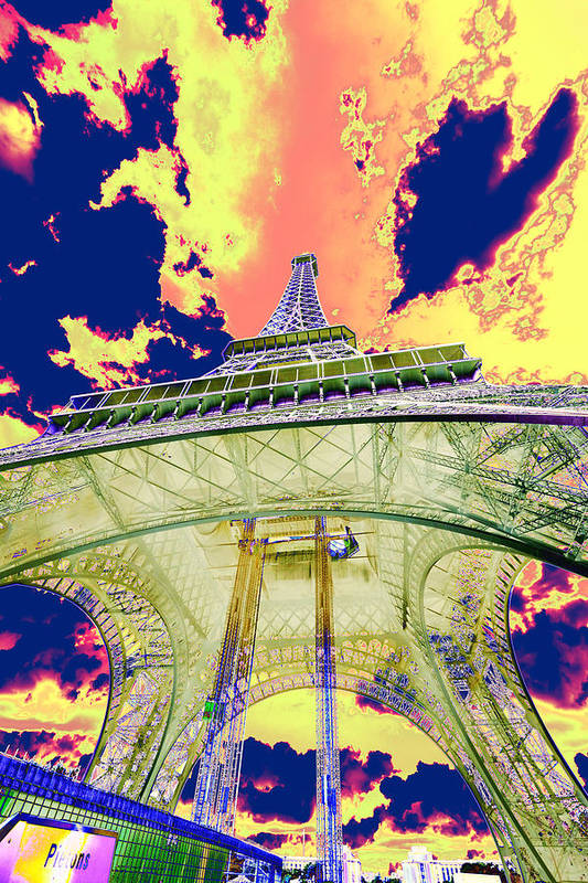 Cruise 2013 Art Print featuring the photograph Eiffel Tower Psycho Version by Richard Henne