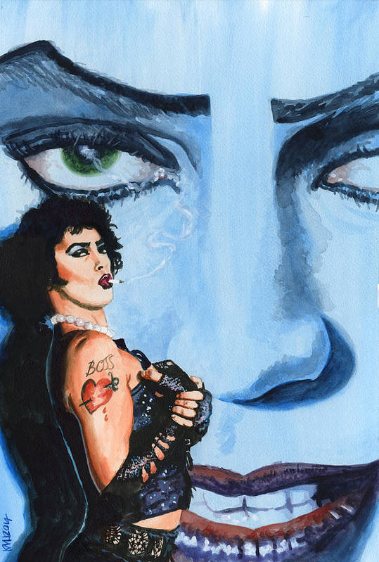 Rocky Horror Picture Show Art Print featuring the painting Franknfurter by Ken Meyer jr