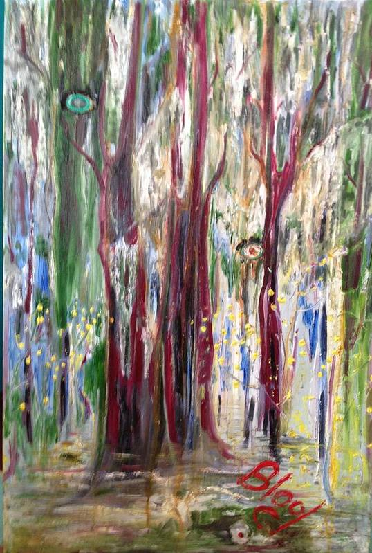 Trees Art Print featuring the painting Georgia Marsh in March by Peggy Blood