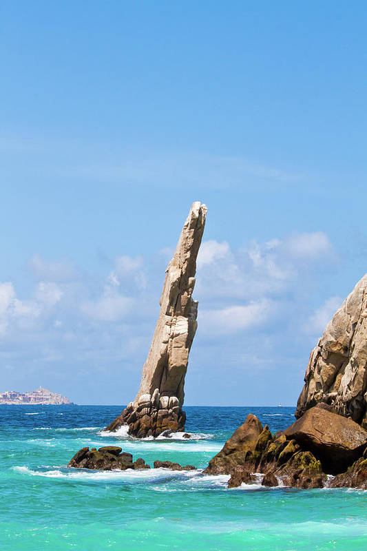 Scenics Art Print featuring the photograph Lands End Rock by Christopher Kimmel