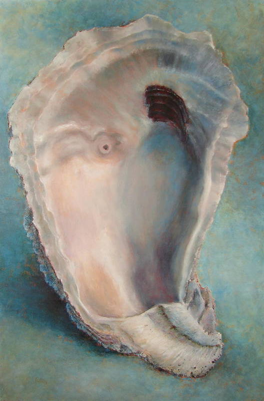 Oyster Art Print featuring the painting Libby's Oyster by Pam Talley