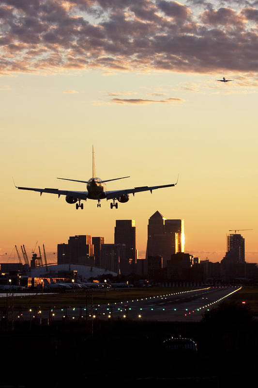 Taking Off Art Print featuring the photograph London City Airport by Greg Bajor
