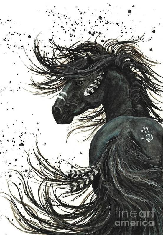 Mm65 Art Print featuring the painting Majestic Spirit Horse I by AmyLyn Bihrle