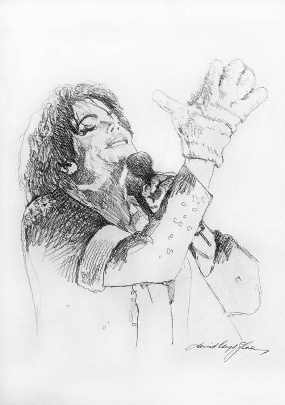 Michael Jackson Art Print featuring the painting Michael Jackson Passion Sketch by David Lloyd Glover
