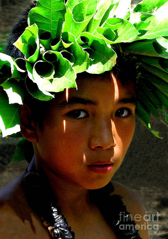 Hawaii Art Print featuring the photograph Molokai Keiki Kane by James Temple