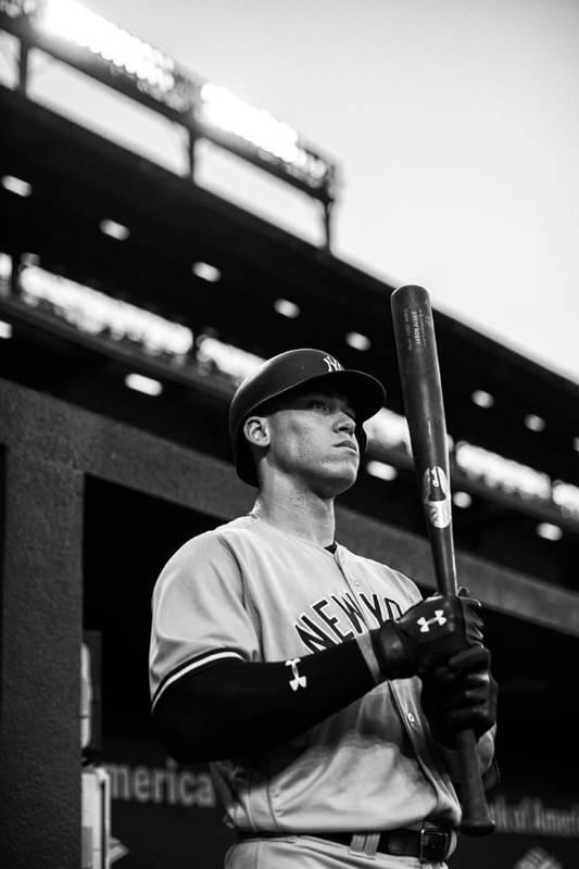 People Art Print featuring the photograph New York Yankees v Baltimore Orioles by Rob Tringali/Sportschrome