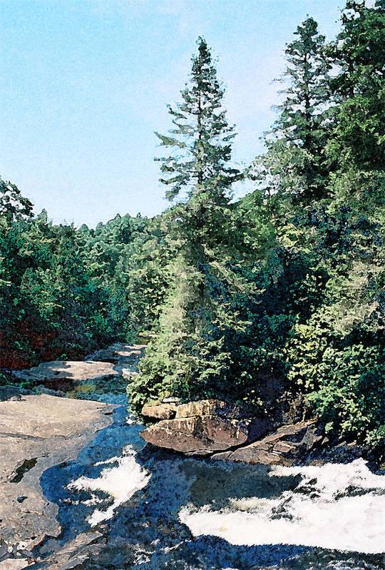 Landscape Art Print featuring the digital art North Carolina Landscape by Steve Karol
