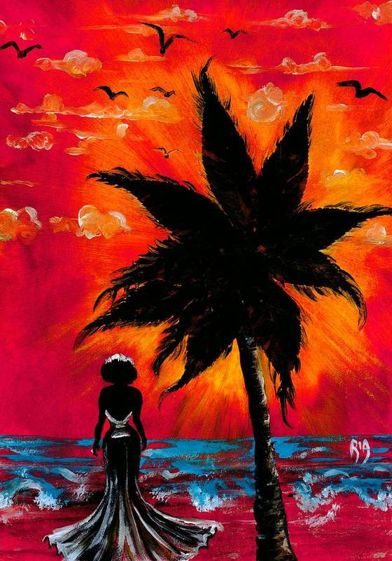 Water Art Print featuring the photograph Nothing and Everthing by Artist RiA