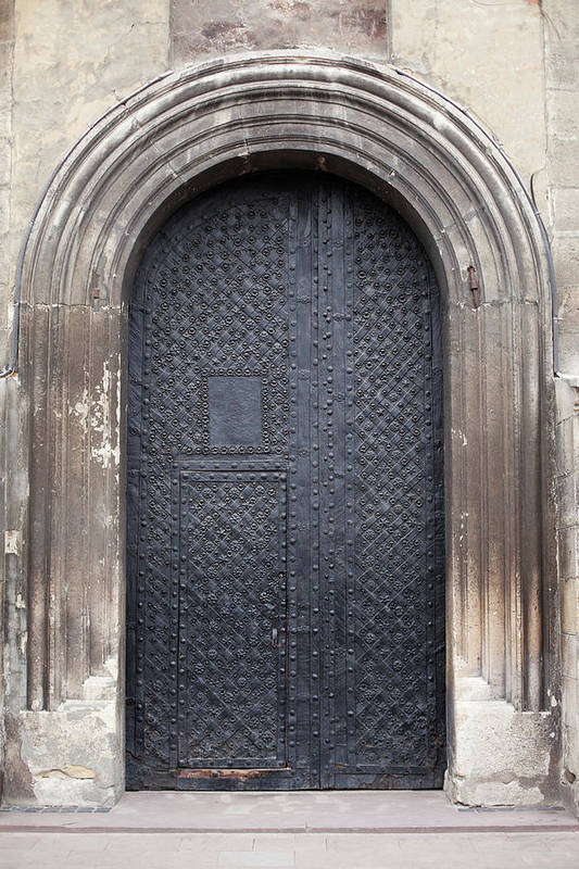 Gothic Style Art Print featuring the photograph Old Door by Viktor gladkov