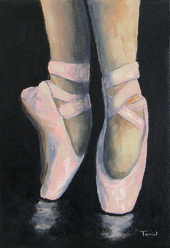 Ballet Art Print featuring the painting On Point IV by Torrie Smiley