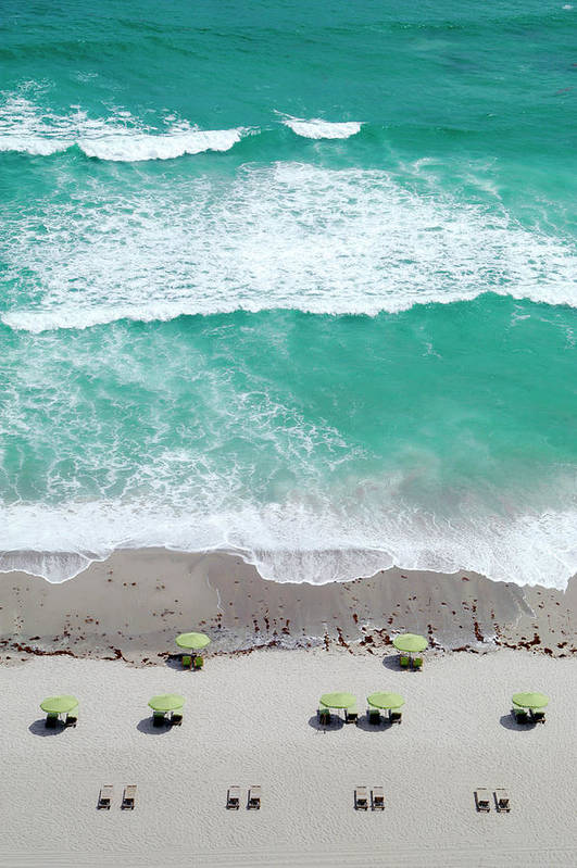 Vacations Art Print featuring the photograph Overhead Wide Angle Of The Beach by Bauhaus1000