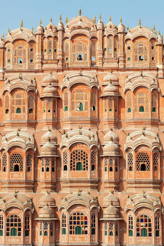 Built Structure Art Print featuring the photograph Palace Of The Winds Hawa Mahal, Jaipur by Peter Adams