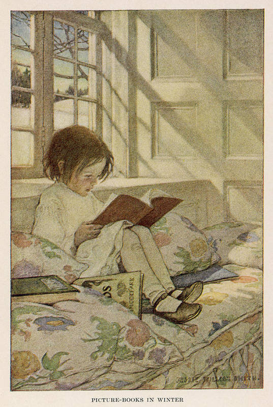 'picture Books In Winter' A Girl Sits by Mary Evans Picture Library