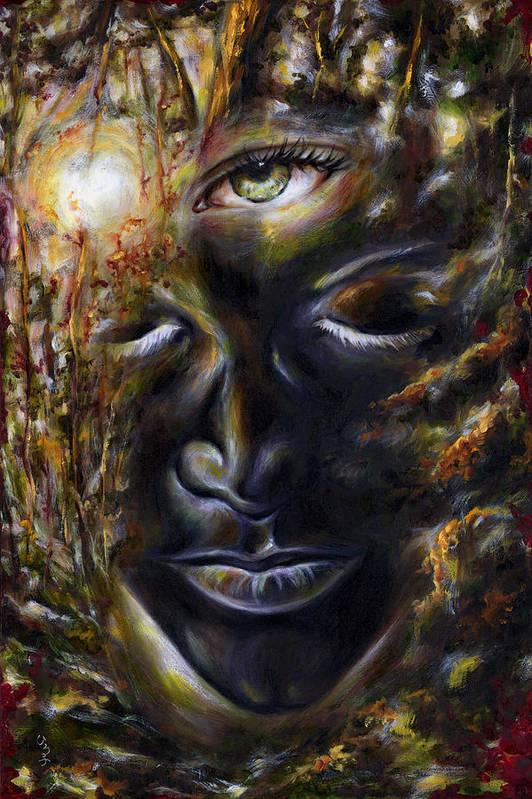 Eye Art Print featuring the painting Revelation by Hiroko Sakai