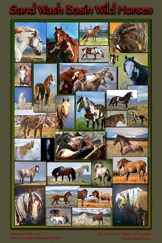 Mustangs Art Print featuring the photograph Sand Wash Basin Wild Horses by Lourie Zipf