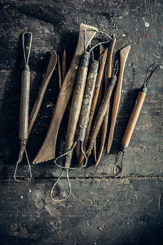 Art Art Print featuring the photograph Sculpting Tools by Alexd75