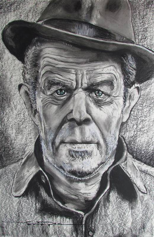 Tom Waits Art Print featuring the drawing Small Change for Tom Waits by Eric Dee
