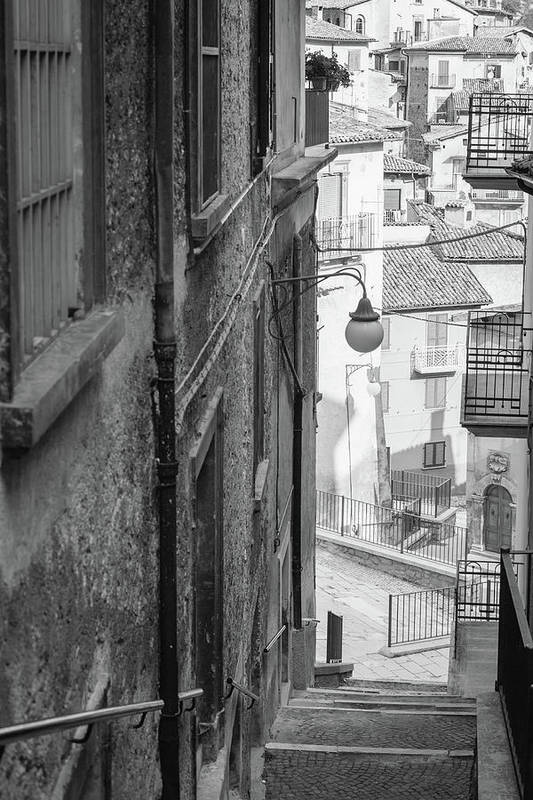 Steps Art Print featuring the photograph Stair In Scanno, Italy by Deimagine