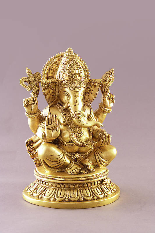 Spirituality Art Print featuring the photograph Statue Of Lord Ganesh by Visage