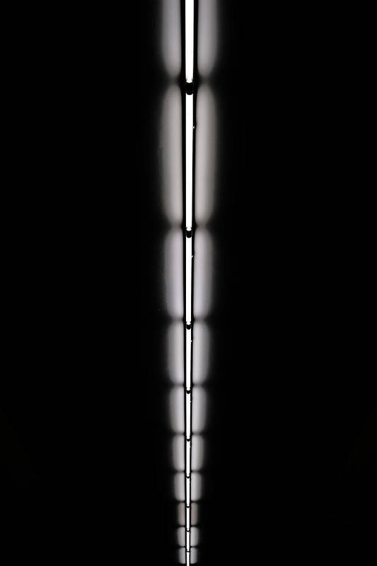 Ceiling Art Print featuring the photograph Strip Of Florescent Lighting by Win-initiative
