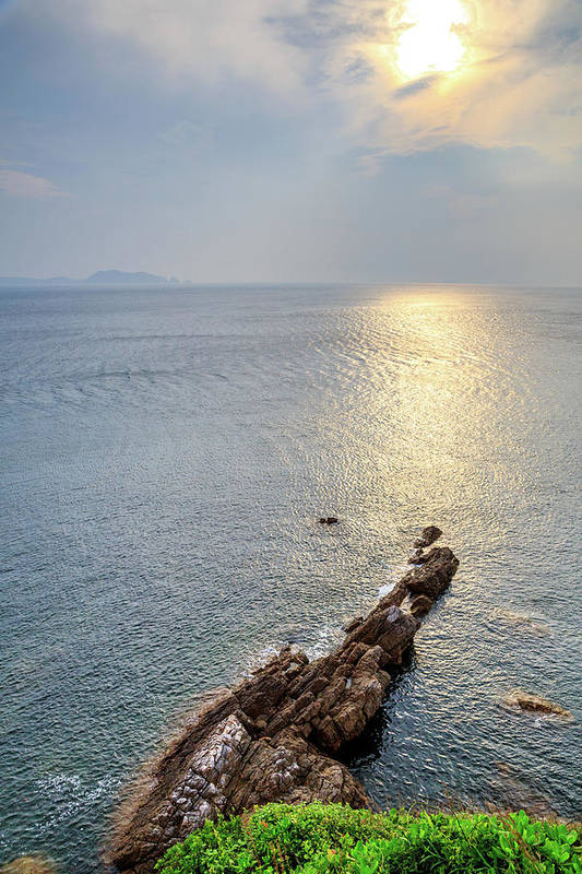 Scenics Art Print featuring the photograph Sunrise Over The Coast Of Shenzhen by Feng Wei Photography