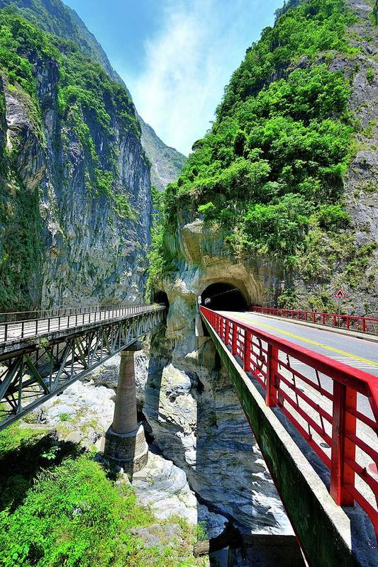 Built Structure Art Print featuring the photograph Taroko Gorge by Photography By Anthony Ko