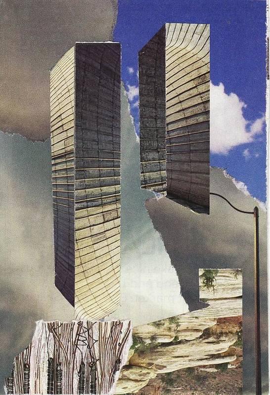 World Trade Center Art Print featuring the mixed media Torn by Matthew Hoffman