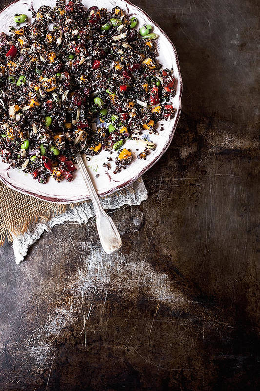 San Francisco Art Print featuring the photograph Vegan Quinoa Salad by One Girl In The Kitchen