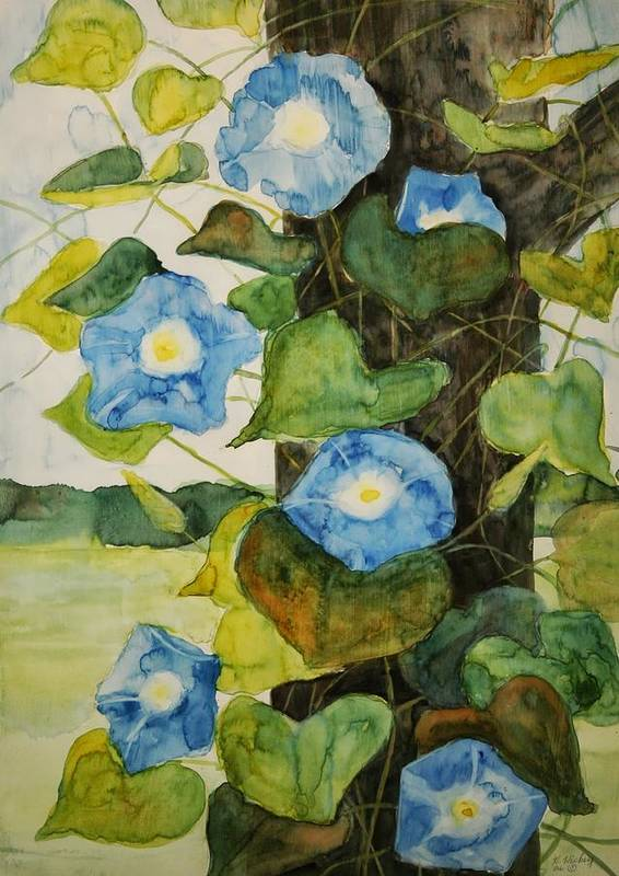Art Print featuring the painting Vine by Helen Hickey