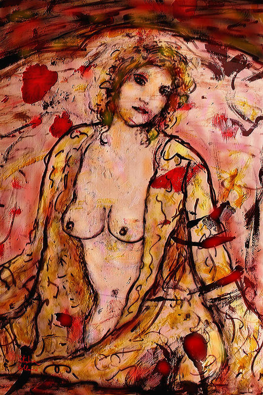 Romantic Art Print featuring the painting Gentle Nude by Natalie Holland