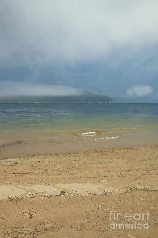 Misty Art Print featuring the photograph Mist over Pittwater by Sheila Smart Fine Art Photography