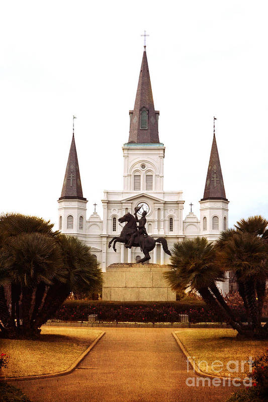 New Orleans Art Print featuring the photograph New Orleans St. Louis Cathedral by Kim Fearheiley
