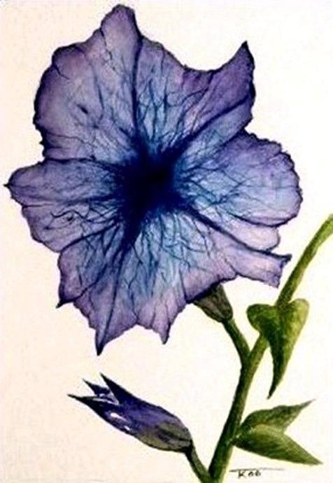 Petunia Art Print featuring the painting Petunia by Travis Kelley
