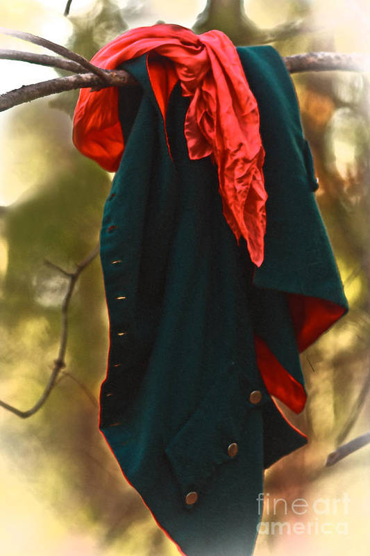 Primitive Clothing Art Print featuring the photograph Red Lined by Kim Henderson