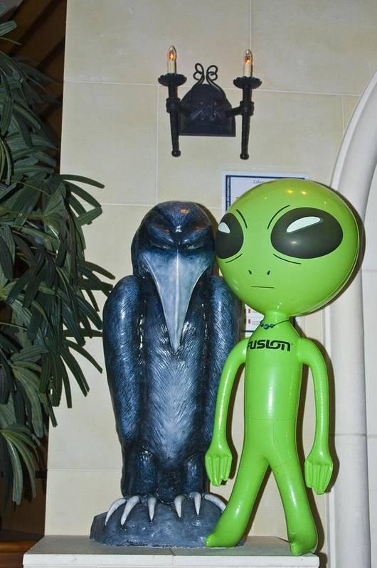 Alien Art Print featuring the photograph The Maltese Alien by Richard Henne