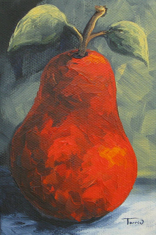 Pear Art Print featuring the painting The Pear Chronicles 015 by Torrie Smiley