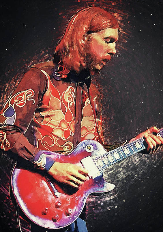 Duane Allman Art Print featuring the digital art Duane Allman by Zapista OU