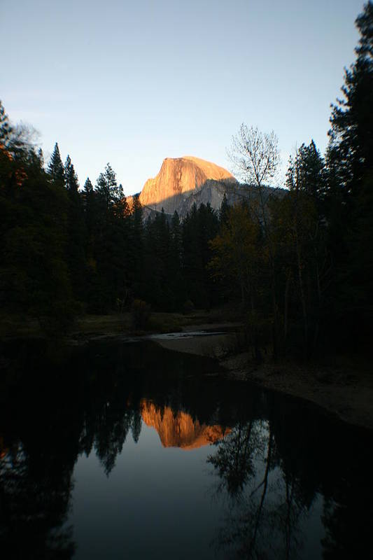 Half Dome Art Print featuring the photograph Half Dome Sunset by Travis Day