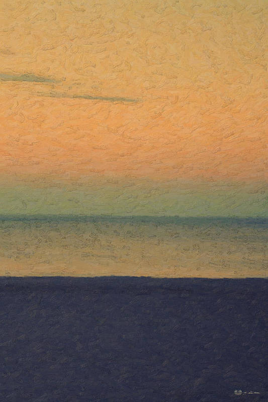 �not Quite Rothko� Collection By Serge Averbukh Art Print featuring the photograph Not quite Rothko - Breezy Twilight by Serge Averbukh