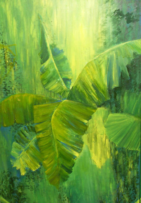 Rain Forest Nature Art Print featuring the painting Rain Forest by Carol P Kingsley