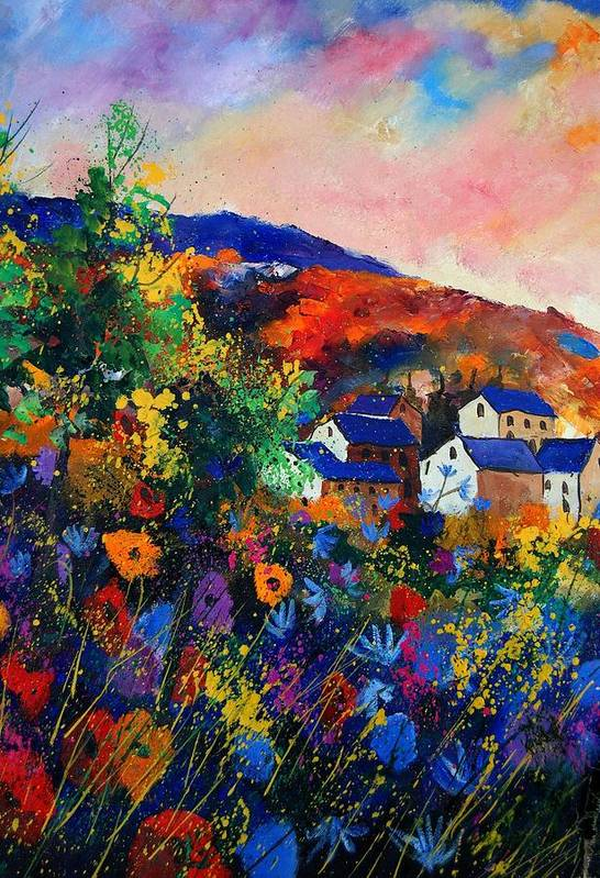 Landscape Art Print featuring the painting Summer by Pol Ledent