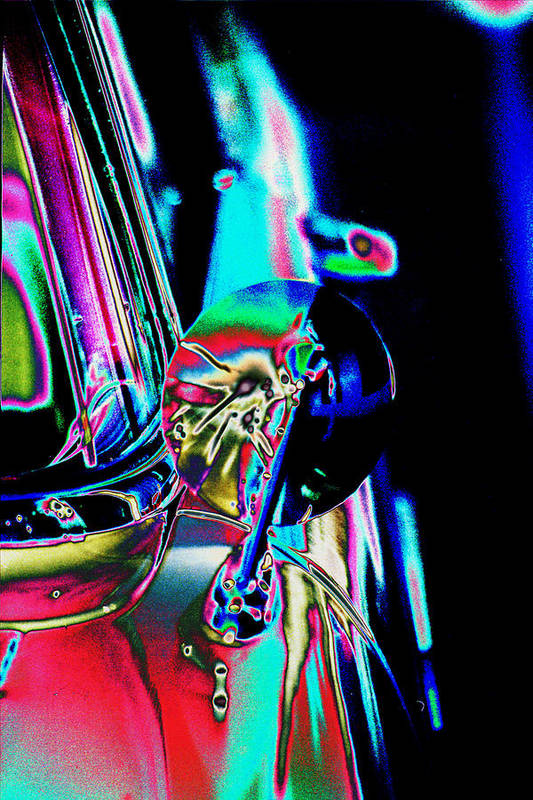 Ford Art Print featuring the photograph 1954 Ford Side Mirror by Richard Henne