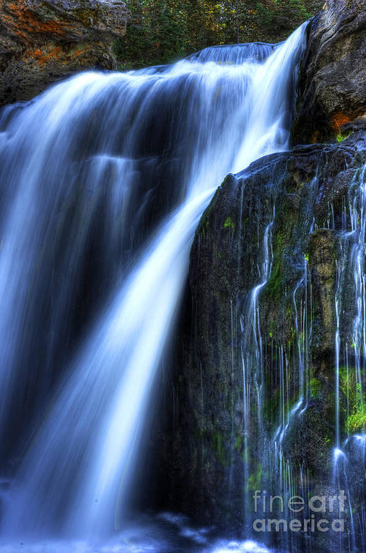Places Art Print featuring the photograph Crayfish Falls by Dennis Hammer