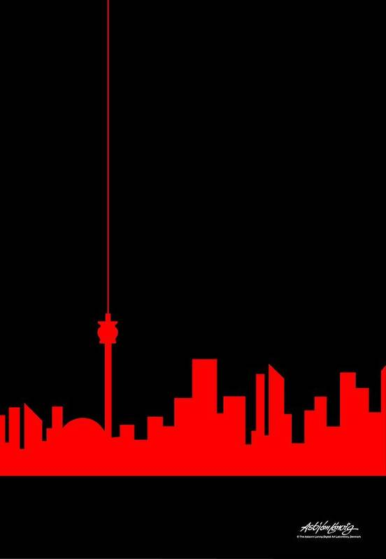 Art Print featuring the painting Toronto Skyline by Asbjorn Lonvig