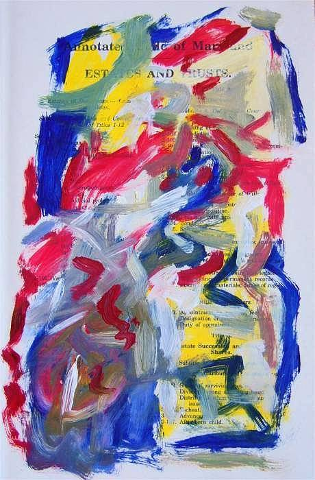 Abstract Art Art Print featuring the painting Abstract On Paper No. 26 by Michael Henderson