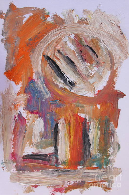 Abstract Art Print featuring the painting Abstract 6833 by Michael Henderson