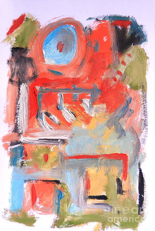 Abstract Art Print featuring the painting Abstract 7204 by Michael Henderson