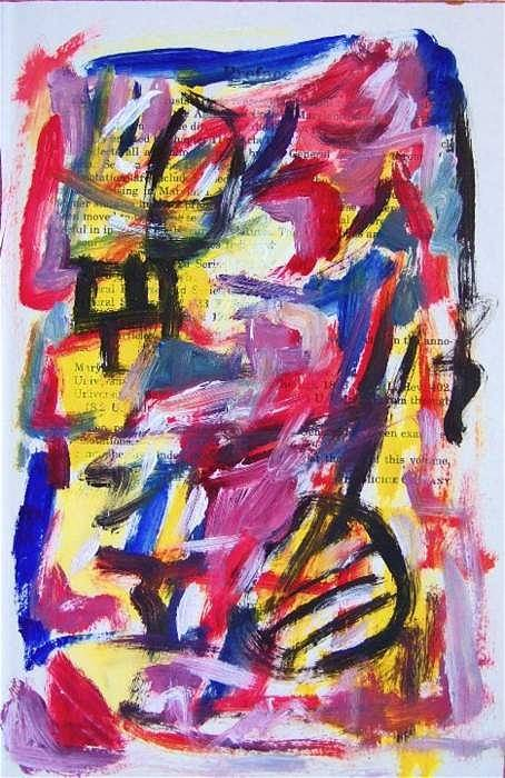 Abstract Art Art Print featuring the painting Abstract On Paper No. 28 by Michael Henderson