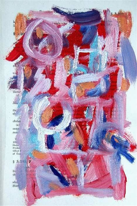 Abstract Art Art Print featuring the painting Abstract On Paper No. 30 by Michael Henderson