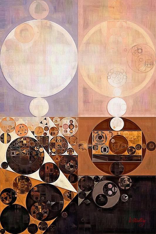 Constructionism Art Print featuring the digital art Abstract painting - Zinnwaldite by Vitaliy Gladkiy